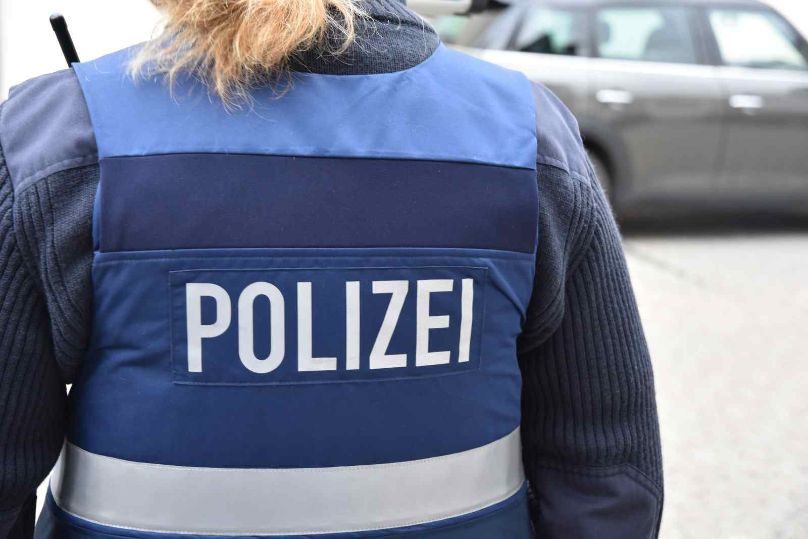 Polizei Polizistin Weste