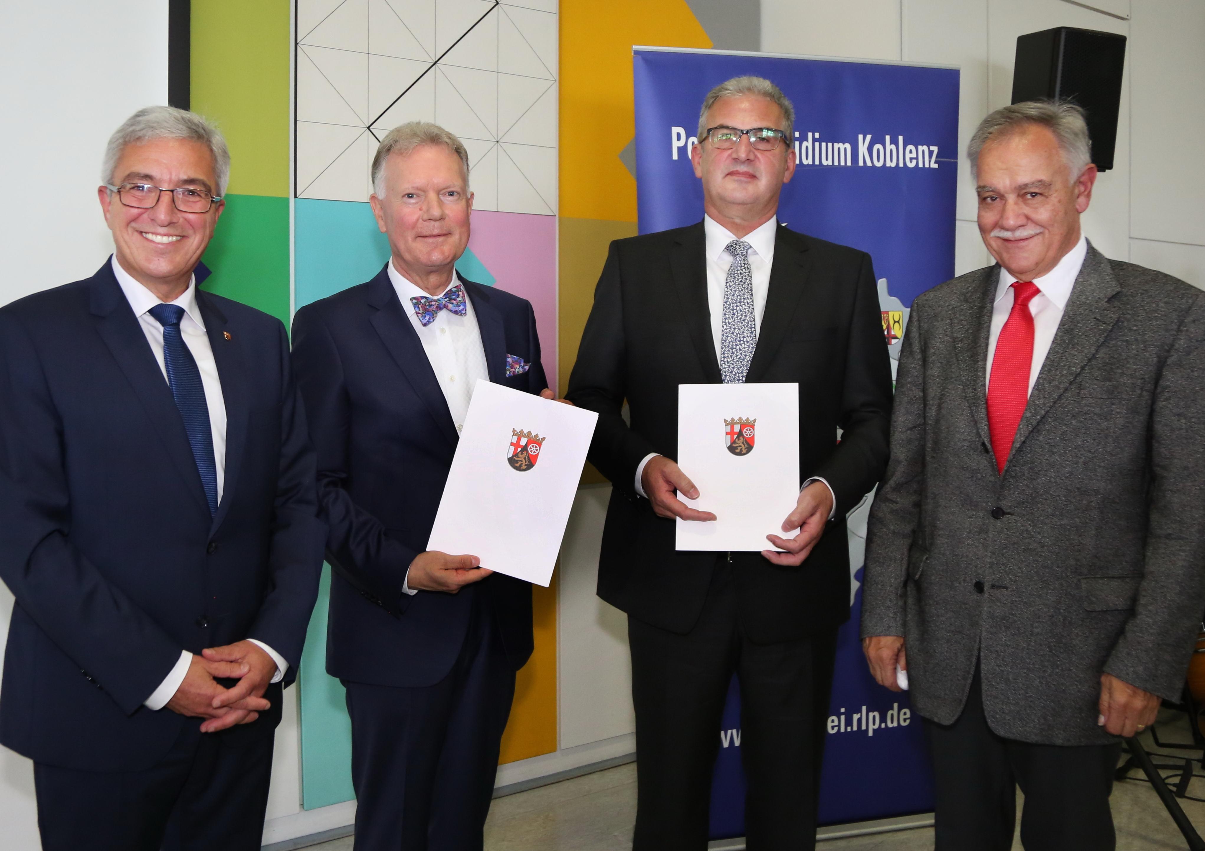 Roger Lewenz, Wolfgang Fromm, Karl Heinz Maron, Polizeipräsidium Koblenz