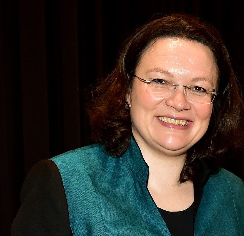 Andrea Nahles glaubt daran, dass das Abstimmungsergebnis zugunsten des Koalitionsvertrages ausfallen wird.⋌Archivfoto: Seydel