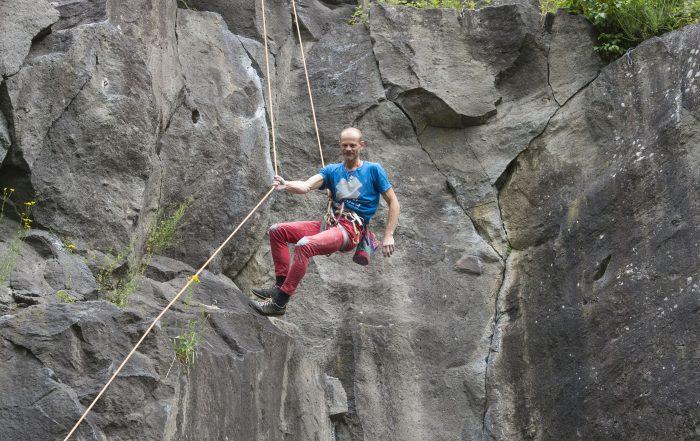 Kletterer in der Ettringer Lay