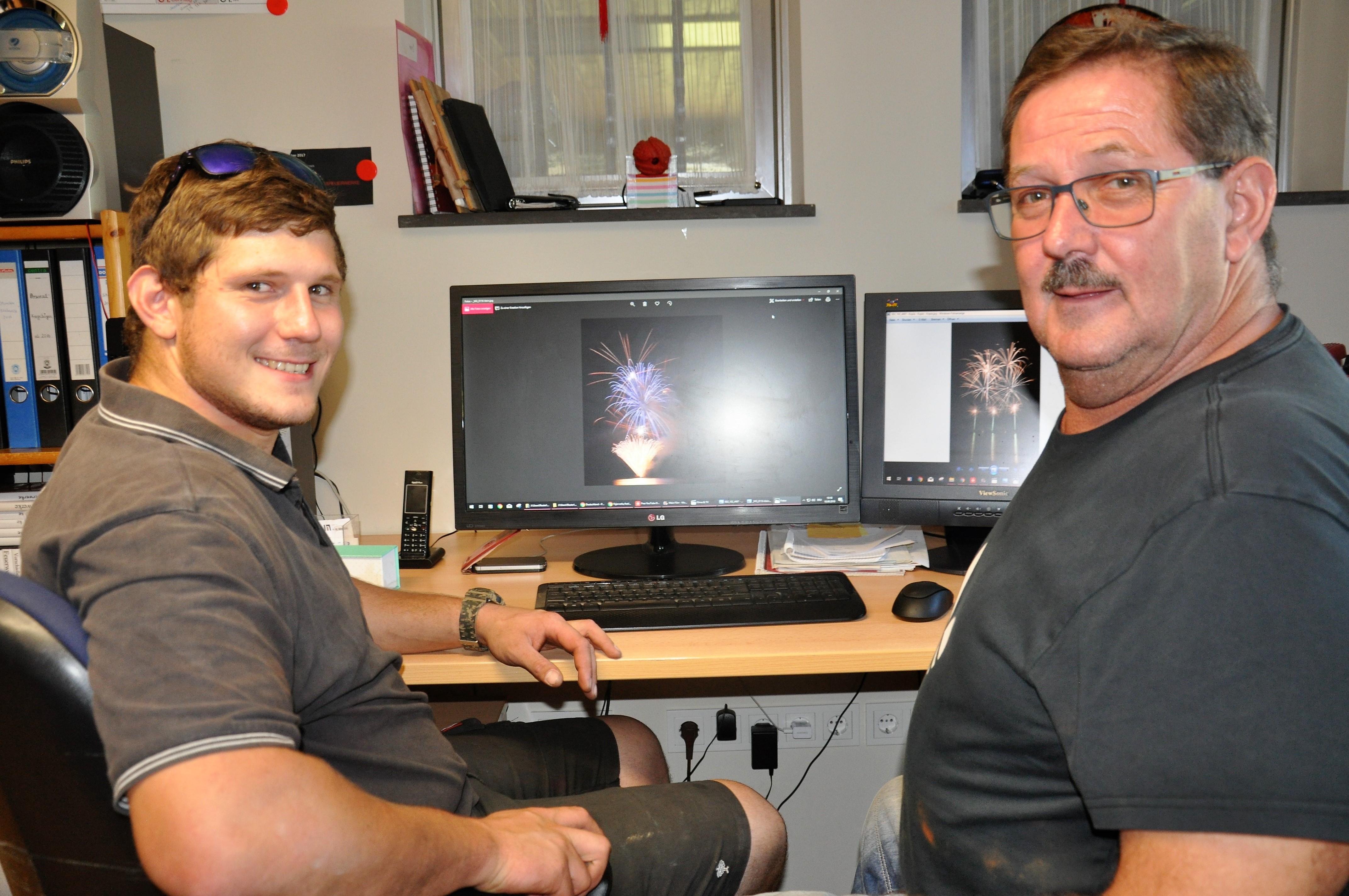 Müllenbacher Feuerwerker Patrick und Helmut Olig