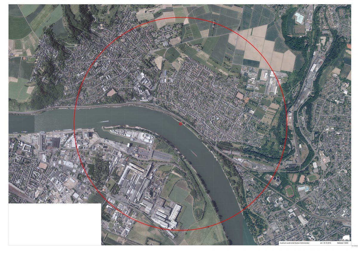 Evakuierungsradius bei Bomenentschärfung in Neuwied